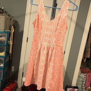 Patterned button up dress